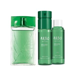 Combo Arbo Botanic: Desodorante Colônia 100ml + Body Spray 100ml + Refil Body Spray 100ml