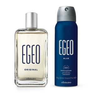 Combo Presente: Egeo Desodorante Colônia 90ml + Antitranspirante Egeo Blue 125ml