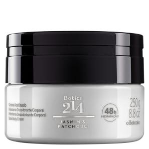 Creme Acetinado Desodorante Hidratante Corporal Botica 214 Jasmin & Patchouli 250g