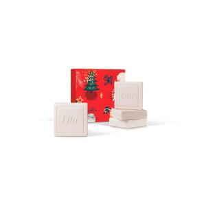Kit Presente Lily: Sabonetes em Barra Perfumados (4 unidades de 90g cada)