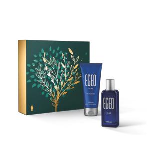 Kit Presente Natal Egeo Blue: Desodorante Colônia 50ml + Shower Gel 100g