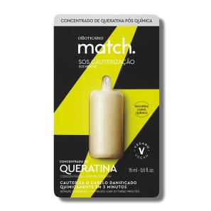Sérum Concentrado de Queratina Pós-Química Match SOS Cauterização 15ml