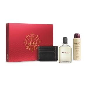 Kit Presente Dia dos Pais Boticollection Portinari: Desodorante Colônia 100ml + Antitranspirante 75g + Carteira Masculina