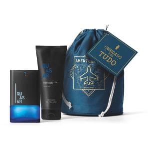Kit Presente Dia dos Pais Quasar: Desodorante Colônia 100ml + Shower Gel 200g + Saquinho Organizador