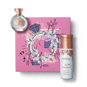 Kit Presente Dia dos Namorados Floratta Blue: Desodorante Colônia 30ml + Creme Corporal 200ml + Caixa de Presente