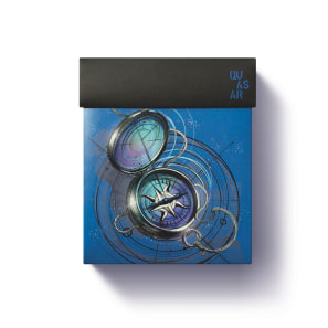 Kit Presente Dia dos Namorados Quasar: Desodorante Colônia 100ml + Antitranspirante Aerossol 75g + Caixa de Presente