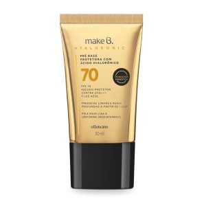 Base Líquida Protetora FPS 70 Make B. Hyaluronic Cor 10 30 ml