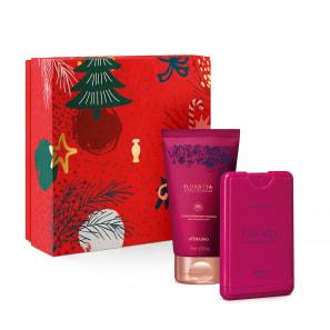 Combo Presente de Natal Mini Floratta Flores Secretas: Desodorante Colônia Pocket 30ml + Loção Hidratante Desodorante 75ml + Caixa de Presente