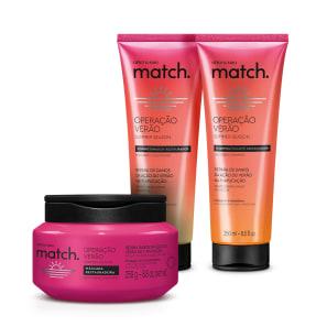 Combo Match Operação Verão: Shampoo 250ml + Condicionador 250ml + Máscara Capilar 250g