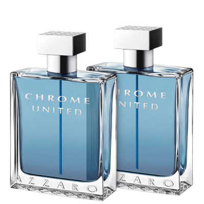 Azzaro Conjunto Masculino Chrome United - Eau de Toilette 2x30ml