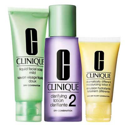 Clinique Sistema 3 Passos Pele 2 - Mista para Seca Great Skin Kit (3 Produtos)