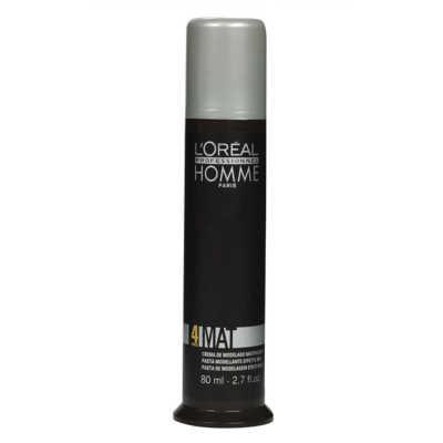 L'Oréal Professionnel Homme Mat Force 4 - Pasta de Modelagem Efeito Mate 80ml