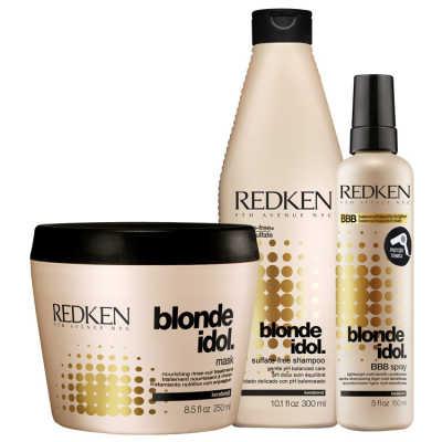 Redken Blonde Idol Multi-Benefit Kit (3 Produtos)