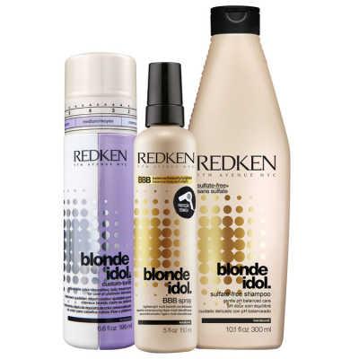 Redken Blonde Idol Shine and Color Kit (3 Produtos)