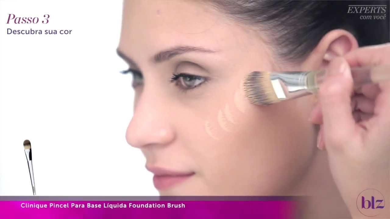 Pincel Clinique Foundation Para Base Liquida Beleza Na Web