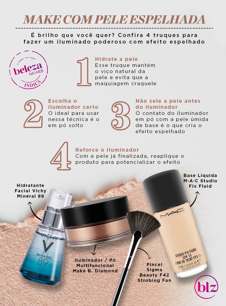 Make com pele espelhada em 4 passos