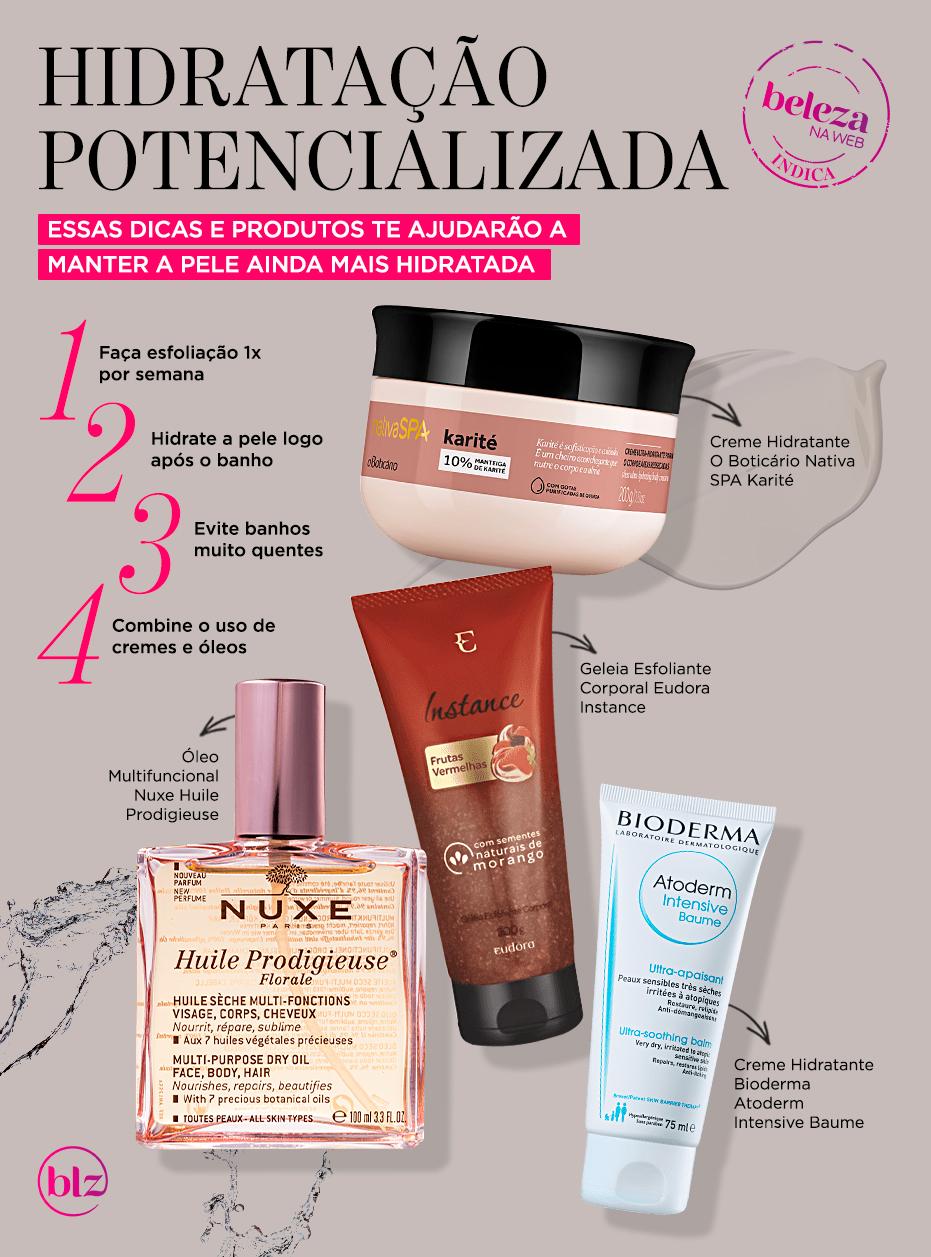 Como potencializar a hidratação da pele em 4 passos