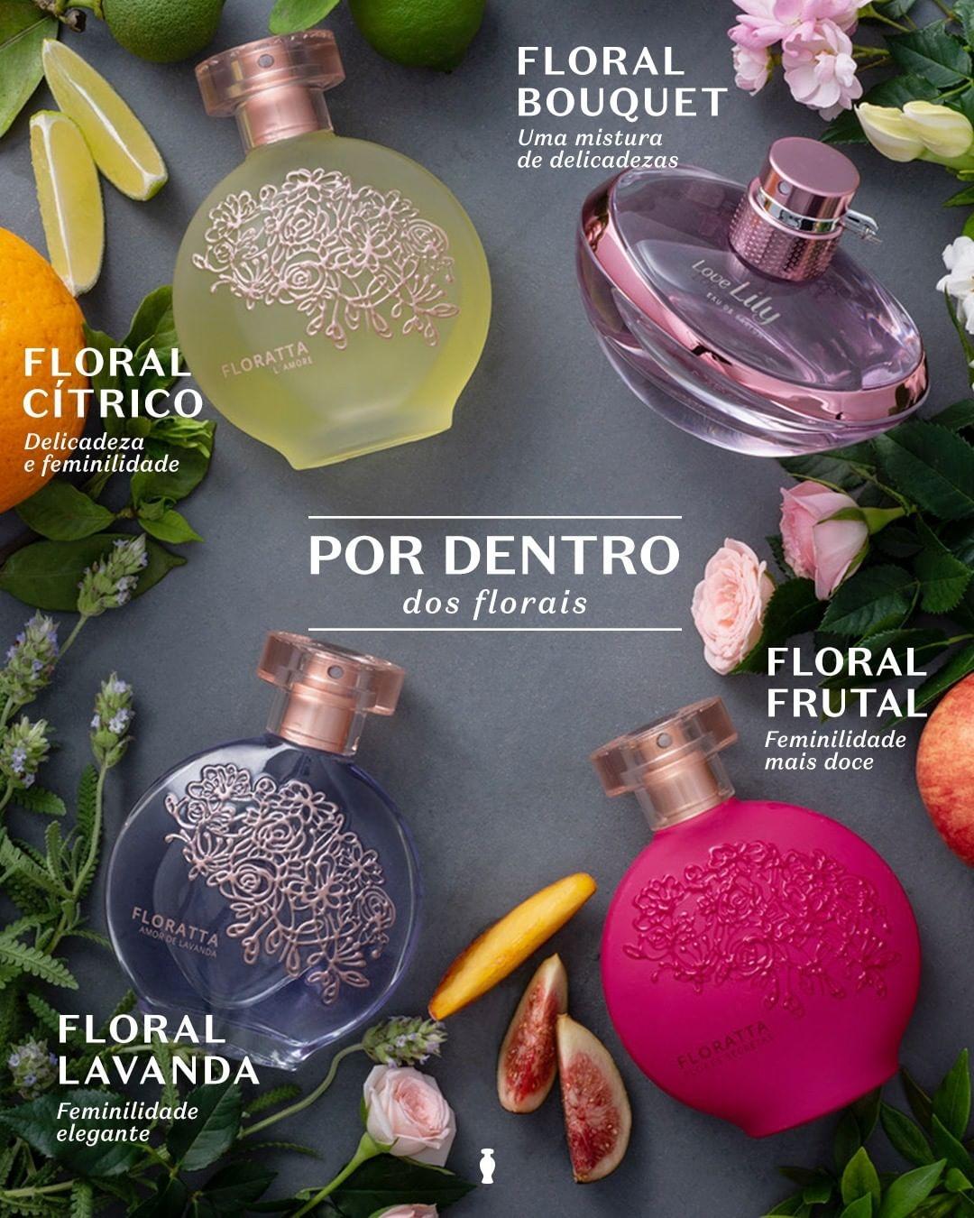 Fragrâncias florais do Boticário