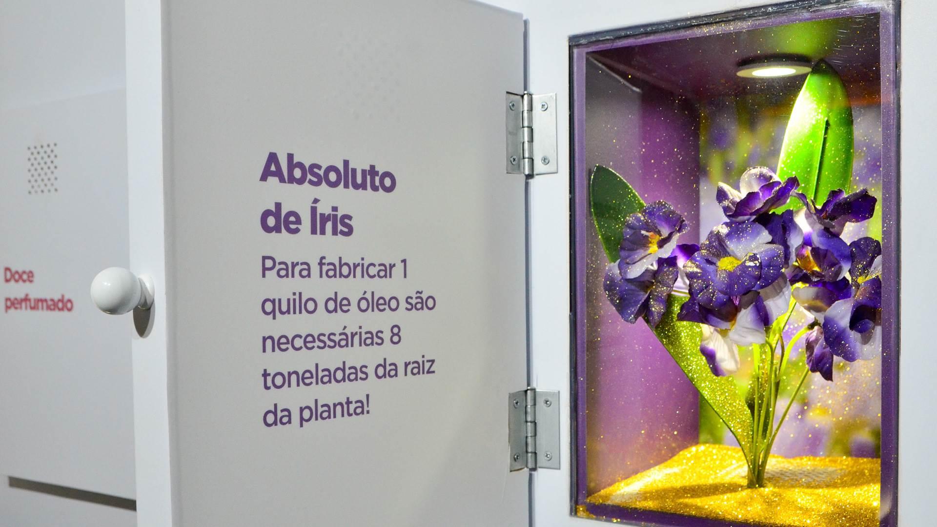 Ingredientes da perfumaria, exposição do perfume