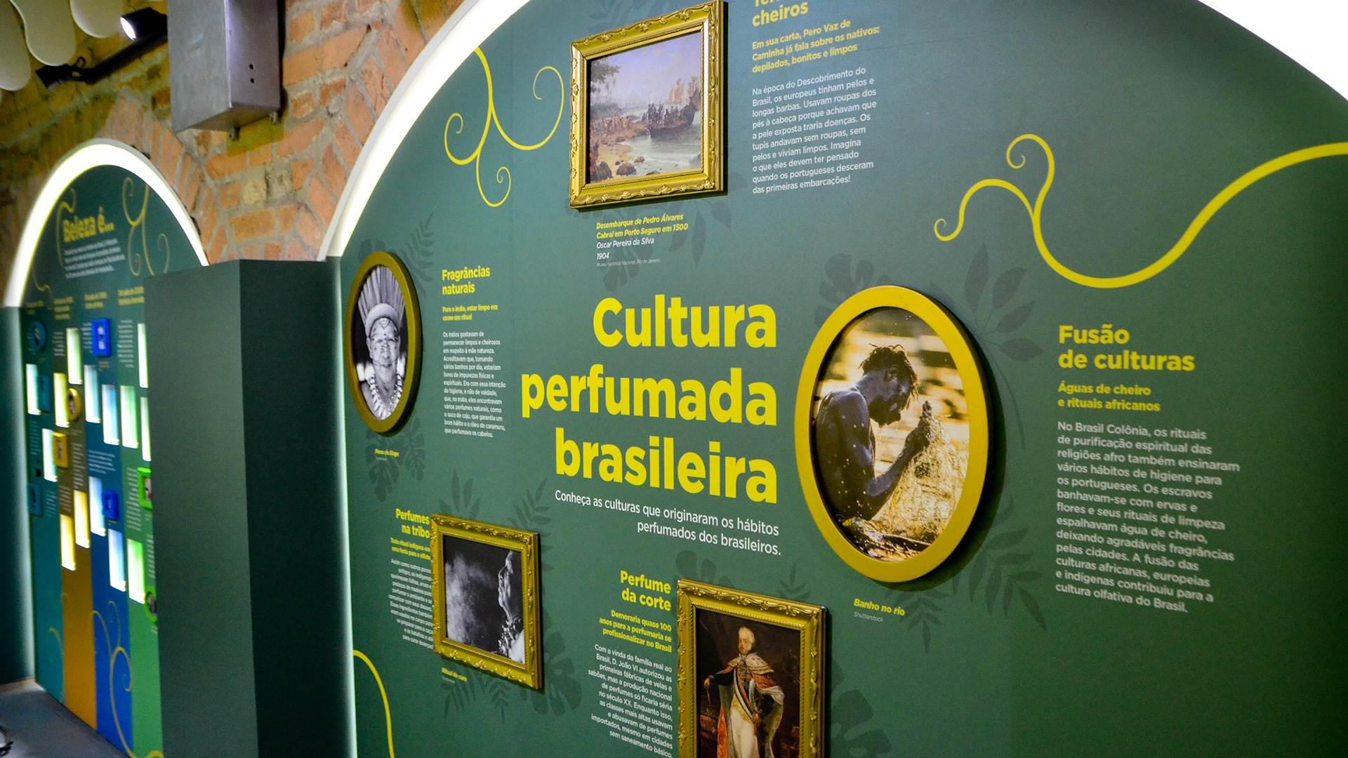 As fragrâncias no Brasil, exposição do perfume