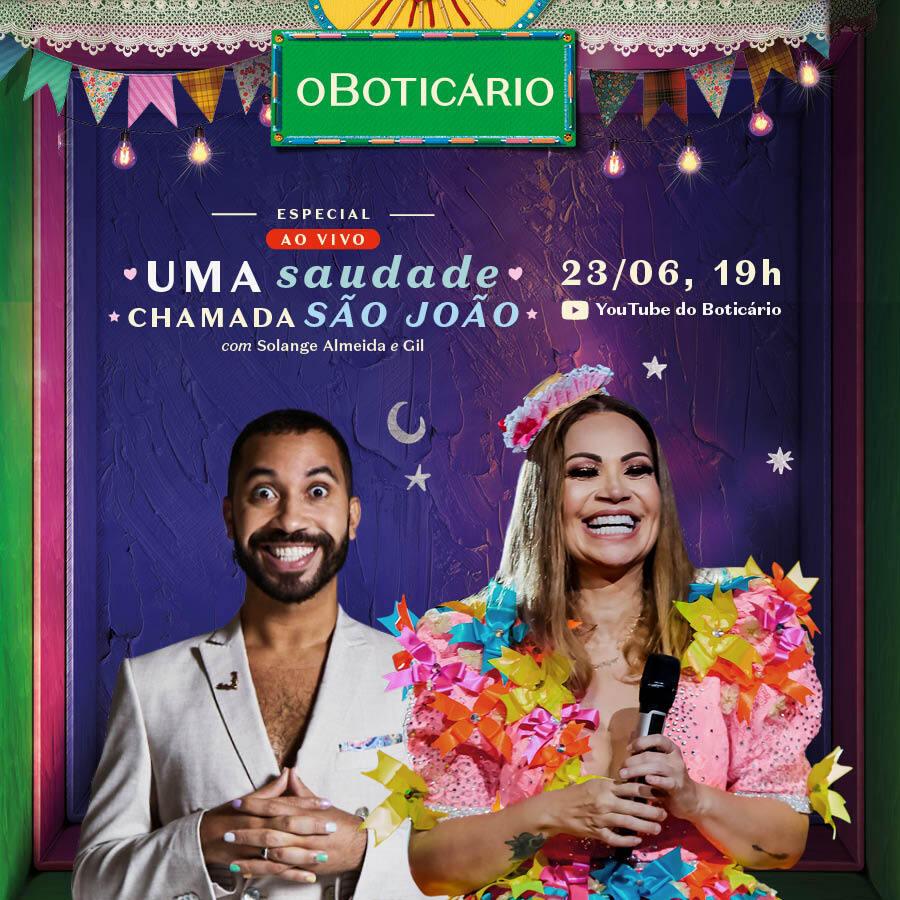 Live de São João com show de Solange Almeida e Gil do Vigor