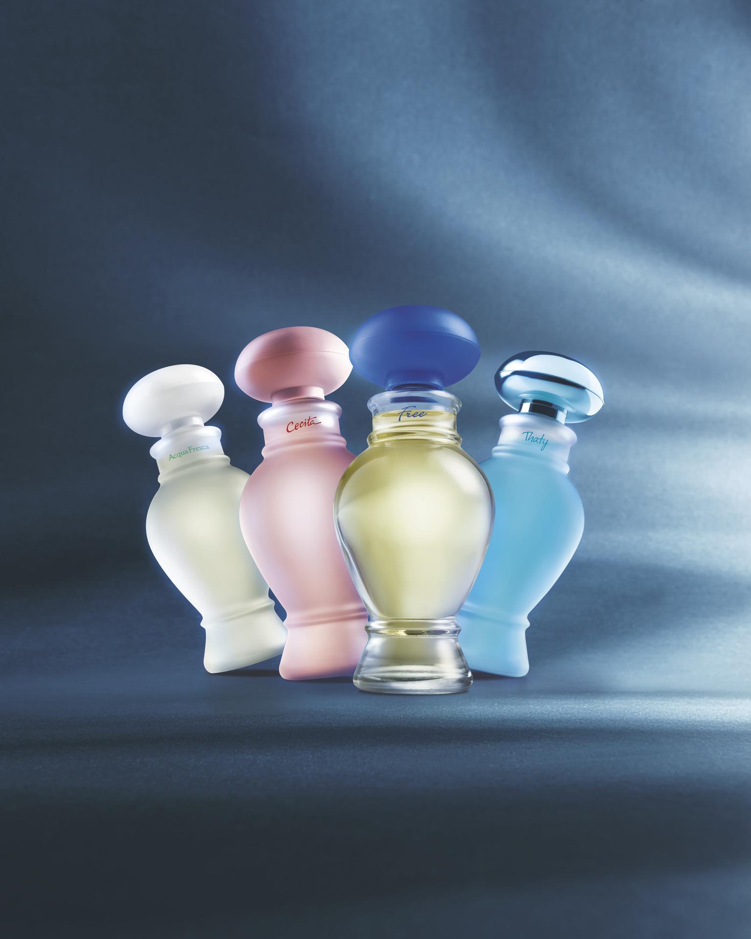 As clássicas ânforas da perfumaria do Boticário