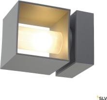 SQUARE TURN, QT14, väggarmatur utomhus, silvergrå,