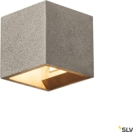 SOLID CUBE väggarmatur, QT14, svart sandsten, max.