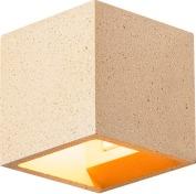 SOLID CUBE väggarmatur, QT14, gul sandsten, max. 2