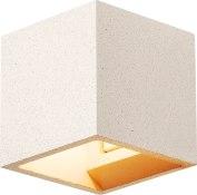 SOLID CUBE väggarmatur, QT14, vit sandsten, max. 2