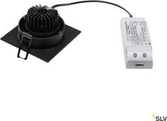 NEW TRIA SET SQUARE Downlightkit, New Tria LED DL Square, svart, 6W, 2 - Bild 2