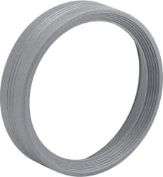 Dekorring 111 silver-grå räfflad