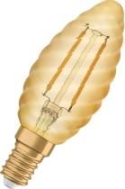 Vintage 1906 LED Kron Guld 2400K
