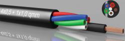 LED-kabel, RGBW, 4x0,5mm² + 1x1.0mm²