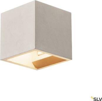 SOLID CUBE SOLID CUBE väggarmatur, QT14, grå, max. 25W