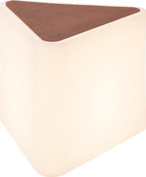 KENGA Utomhusarmatur, vit, trekantig, trä, E27