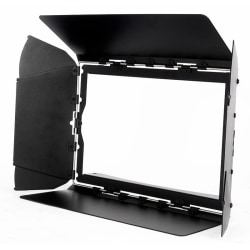 Barndoor f. 32 HEX Panel IP, svart