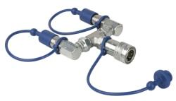 FX CO2 3/8 Qlock 2-way combiner