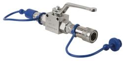 FX CO2 3/8 Q-Lock Shut off valve