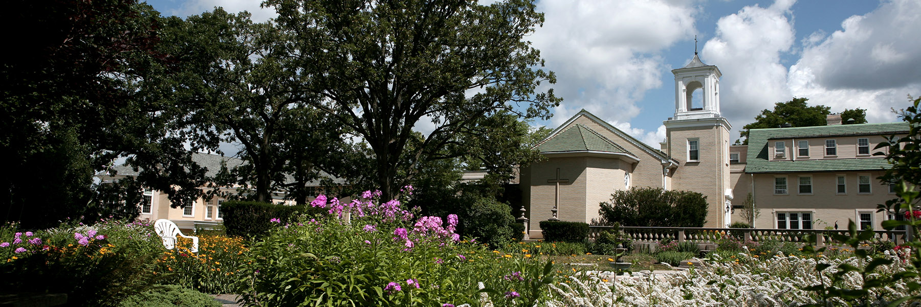 Lower Garden and Sacred Heart Chapel