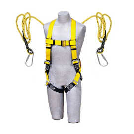 UNISAFE FULL BODY HARNESS DOUBLE HOOK