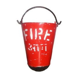 bellstone fire bucket 9 ltr capacity mild steel body