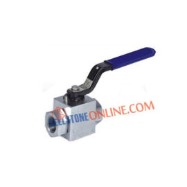 HIGH PRESSURE AWA SERIES SS 304 2 WAY HANDLE OPERATED BALL VALVE SCREWED END