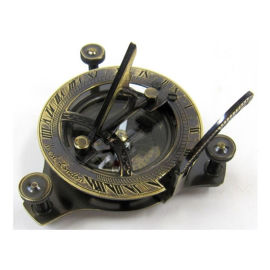 Antique Brass Folding Sundial Compass
