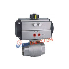 ISO 5211 PNEUMATIC DOUBLE ACTING ACTUATOR OPERATED FORGED TYPE REDUCE BORE 2 WAY CARBON STEEL BALL VALVES WITH HOLLOW BALL