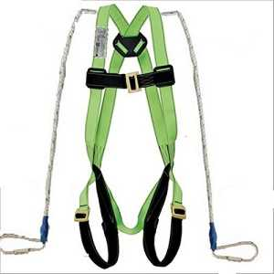 Bellstone Fall Protection Climbing, Rocking, Fire Rescue | Full Body Simple Hook Double Rope Saftey Harness