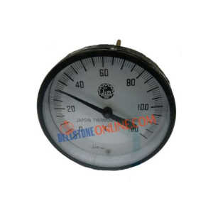 "JTM DIAL 4"" HORIZENTAL THERMEOMETER BI-METAL TYPE"