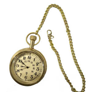 handmade vintage designed pocket watch with long chain