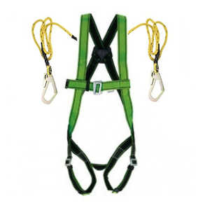 FREEFALL FULL BODY HARNESS DOUBLE SCAFFOLDING HOOK
