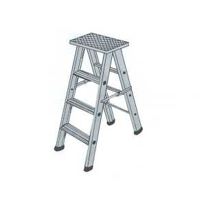 folding ladder 10 feet (aluminium)